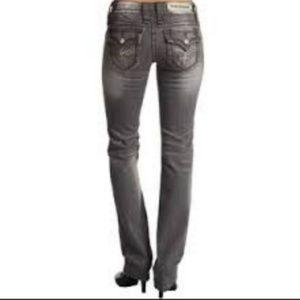 Rock Revival Gray Celine Straight Leg Jeans